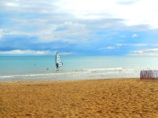 sailboarder on Lake Michigan - photo by Karen Molenaar Terrell