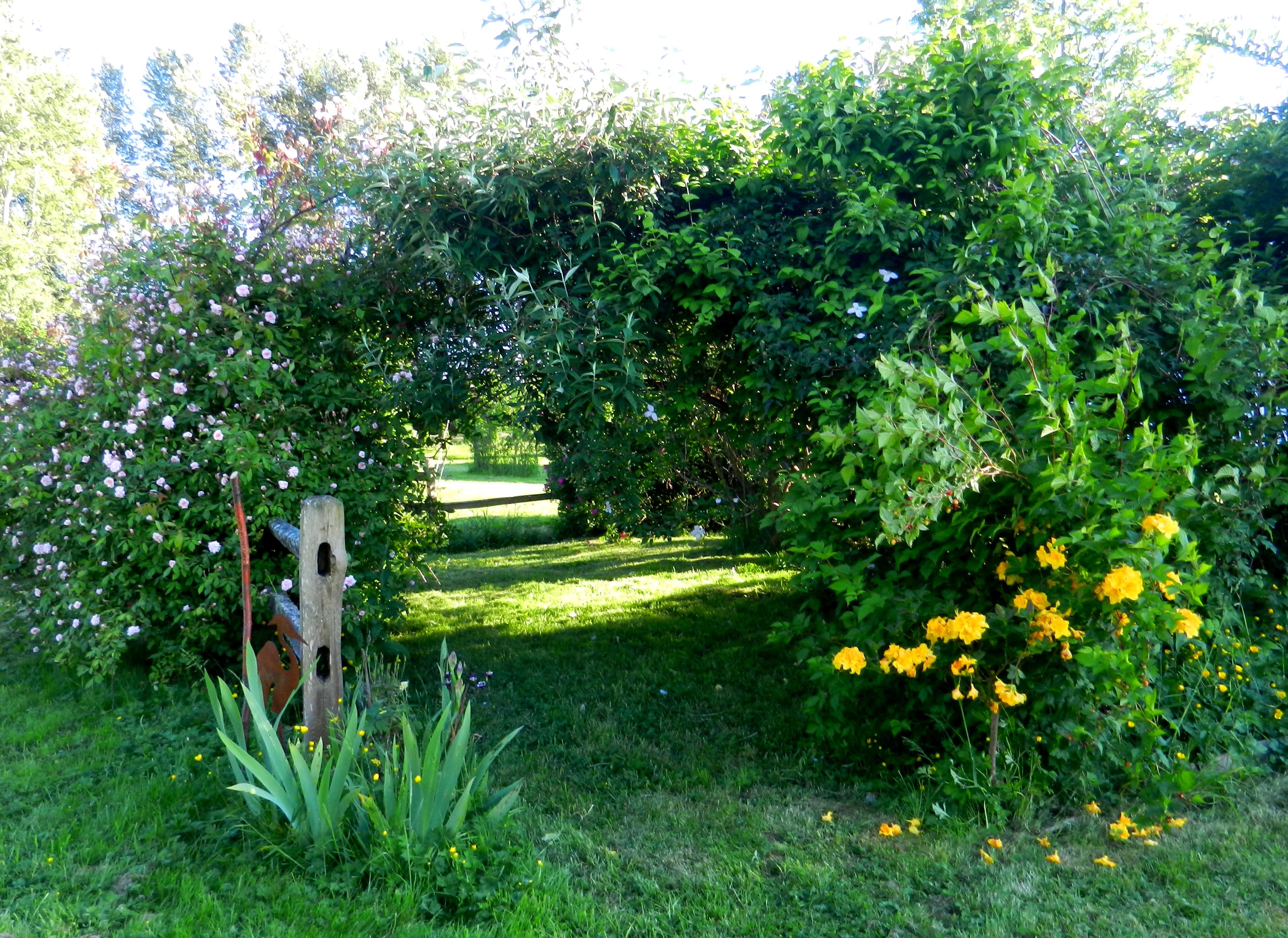 entry to garden