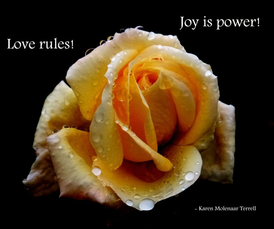 Love rules joy is power