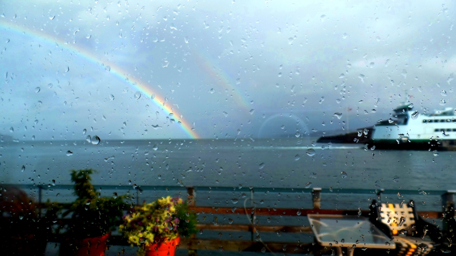 Double Rainbows at Point Defiance