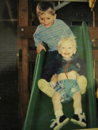 The sons on their slide.