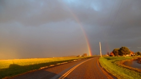 Rainbow After the Storm. Bow, WA. Photo by Karen Molenaar Terrell