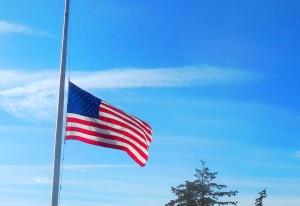 half-mast flag