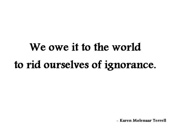 we owe it to the world