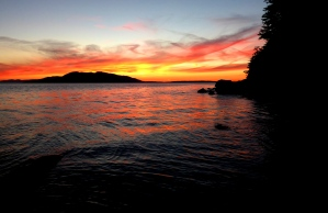 Sunset from Clayton Beach