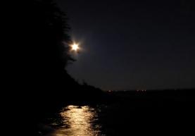 Moonlight over Clayton Beach