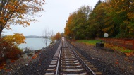 autumn railroad tracks