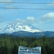 Rainier with signs