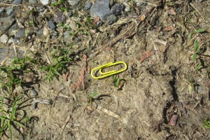 yellow paper clip