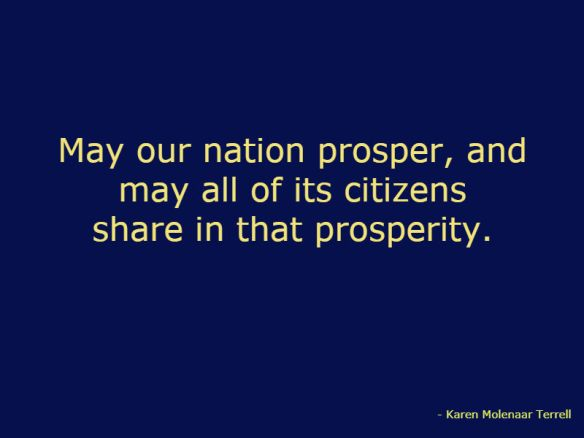 may our nation prosper
