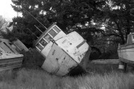 Old Boat in Black and White Near LaConner