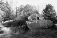 Old Boat in Black and White