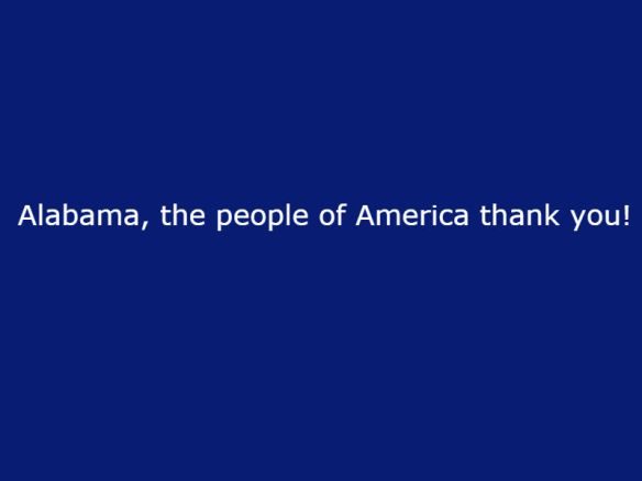 Thanks Alabama