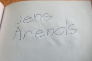 autograph from Jens