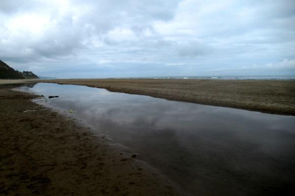 beach reflection