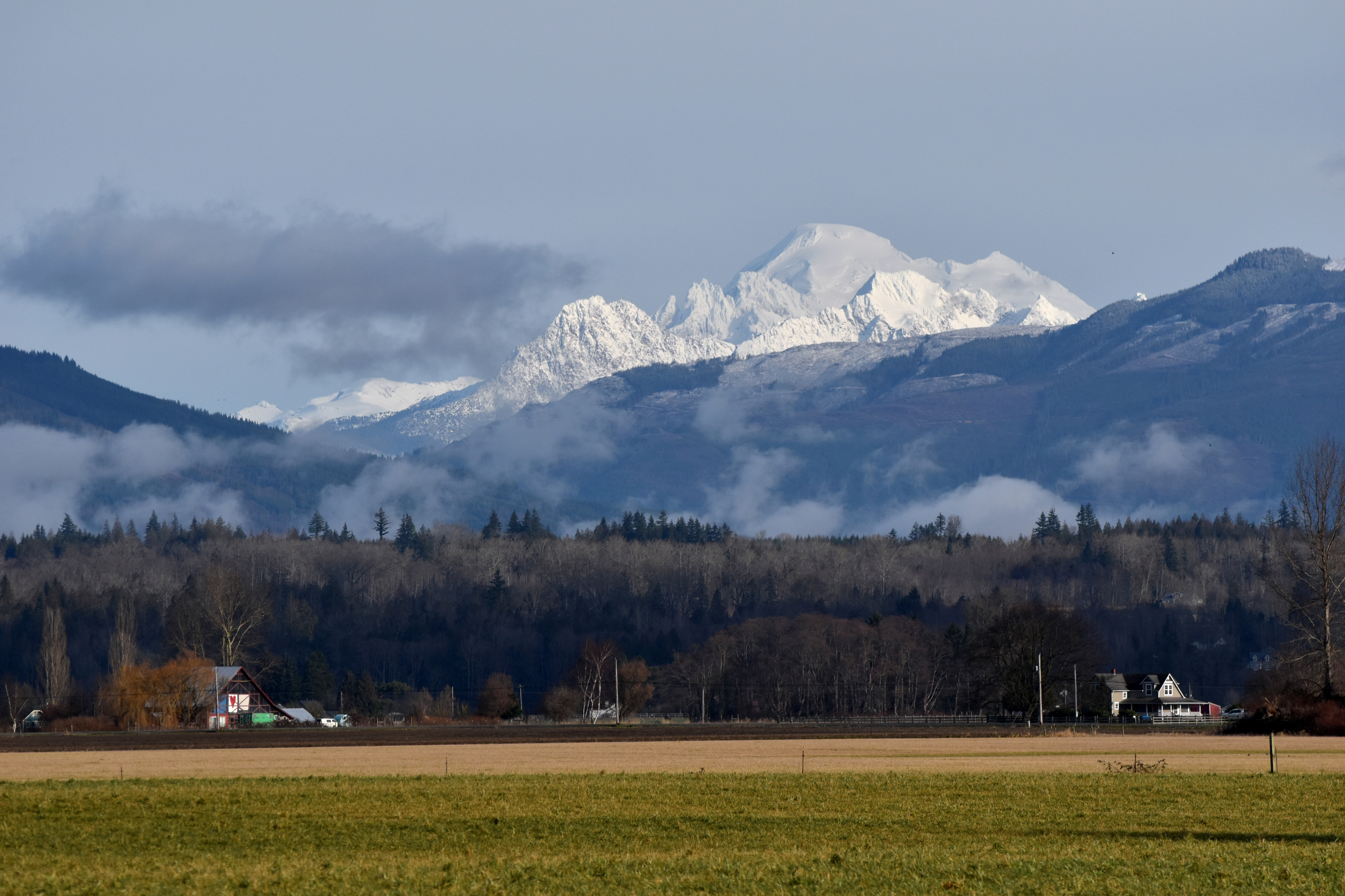Mount Baker from Bow (photo by Karen Molenaar Terrell)