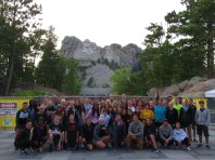 International students at Mount Rushmore.
