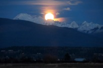 Moon Over Mount Baker